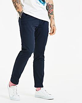 W&B London Navy Cotton Trousers 31in