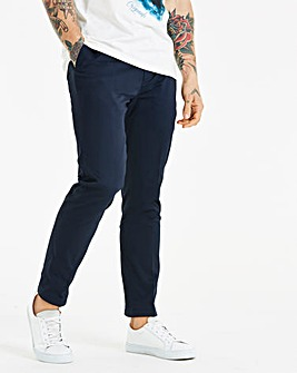 W&B London Navy Cotton Trousers 31in