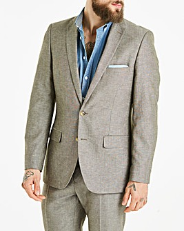 W&B London Oatmeal Linen Mix Suit Jacket Regular