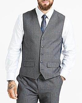 W&B LONDON Grey Check Waistcoat