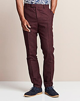 W&B LONDON Burgundy Donegal Trousers