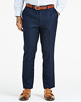 Navy Check Suit Trousers
