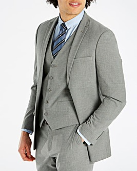 Grey Stretch Jacket Regular