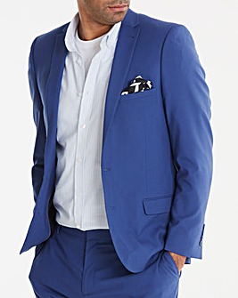 W&B London Blue Stretch Slim Fit Suit Jacket Regular