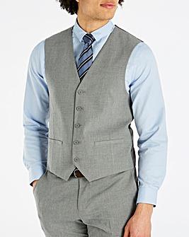 Grey Stretch Waistcoat Regular