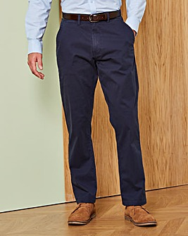 Navy Stretch Chinos 35in