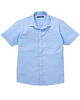 Premier Man Blue S/S Check Shirt R