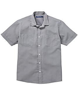 Premier Man Grey S/S Check Shirt R