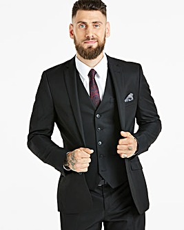 W&B London Black Tonic Suit Jacket