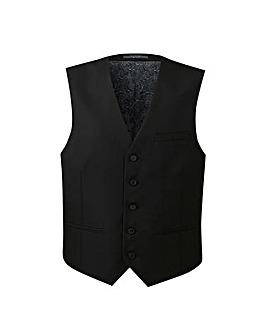 W&B London Black Tonic Suit Waistcoat