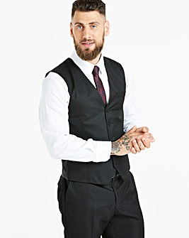 W&B London Black Tonic Suit Waistcoat