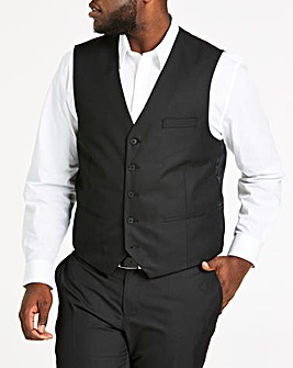 Black Tonic Suit Waistcoat