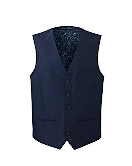 W&B London Blue Slim Fit Tonic Waistcoat
