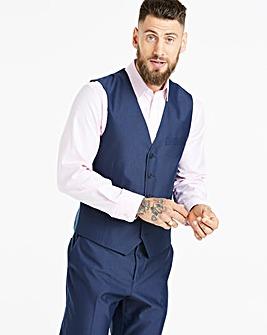 W&B London Blue Tonic Suit Waistcoat