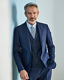 W&B London Blue Slim Tonic Suit Jacket