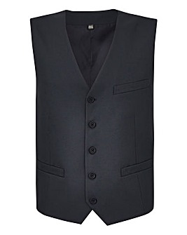 W&B London Black Value Suit Waistcoat