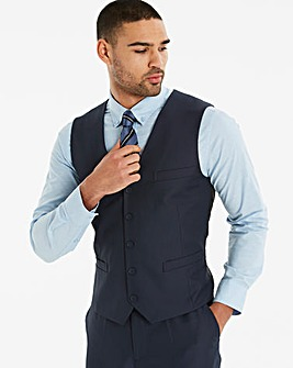 W&B London Navy Slim Value Waistcoat R