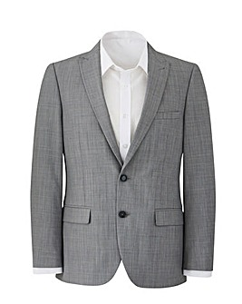 W&B London Grey Polywool Suit Jacket R