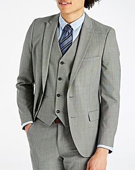 W&B London Grey Polywool Suit Jacket Regular