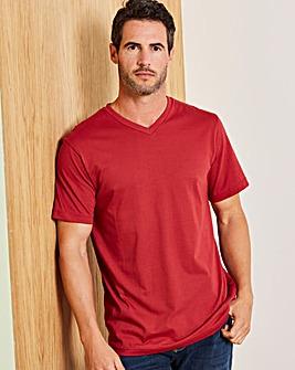 Capsule Burgundy V-Neck T-shirt R