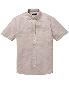 Capsule Oatmeal S/S Oxford Shirt Long