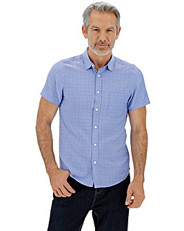 Short Sleeve Chambray Spot Shirt