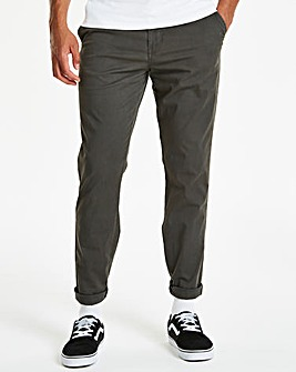 Capsule Dark Grey Stretch Chinos 33in