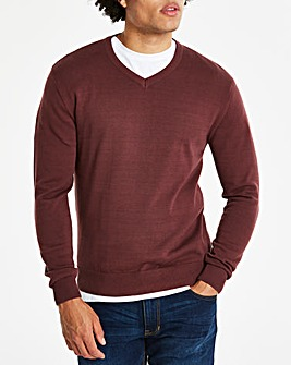 Capsule Wine V-Neck Cotton Jumper L