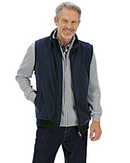 Navy Quilted Fleece Gilet