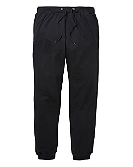Capsule Black Cuffed Jog Pants 29in