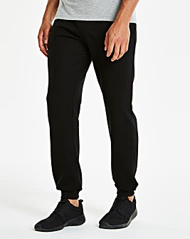 Black Cuffed Jog Pants 27in