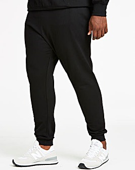 Black Cuffed Jog Pants 29in