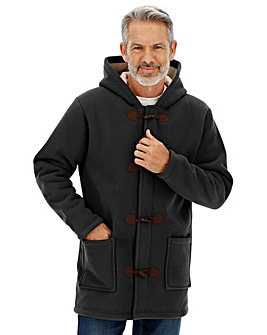 Charcoal Fleece Duffle Coat