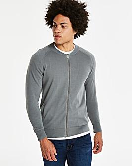Mid Grey Cotton Bomber