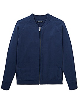 Navy Cotton Bomber Long