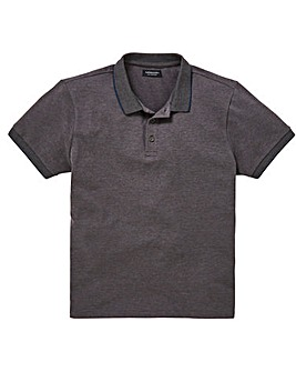 Capsule Charc Stretch Tipped Polo L