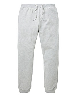 Grey Cuffed Jog Pants 29in
