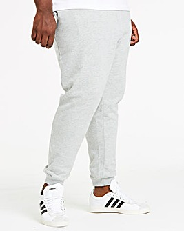 Grey Cuffed Jog Pants 27in