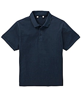 Capsule Navy Stretch Tipped Polo L