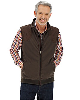 Brown Quilted Fleece Gilet