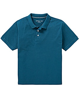 Capsule Dark Teal Short Sleeve Polo L