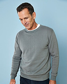 Capsule Grey Crew Neck Cotton Jumper R