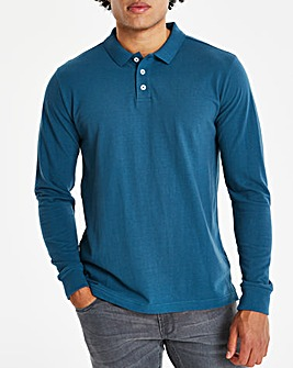 Capsule Dark Teal Long Sleeve Polo L