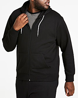 Black Full Zip Hoody Long
