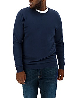Navy Crew Neck Cotton Jumper