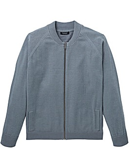 Capsule Grey Cotton Bomber L