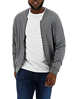 Mid Grey Cotton Bomber Regular
