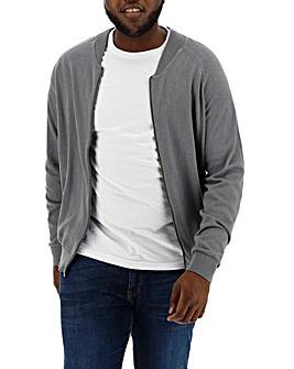 Mid Grey Cotton Bomber Regular