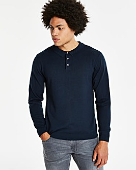 Capsule Navy L/S Knitted Polo R