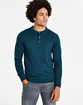 Capsule Dark Teal L/S Knitted Polo R